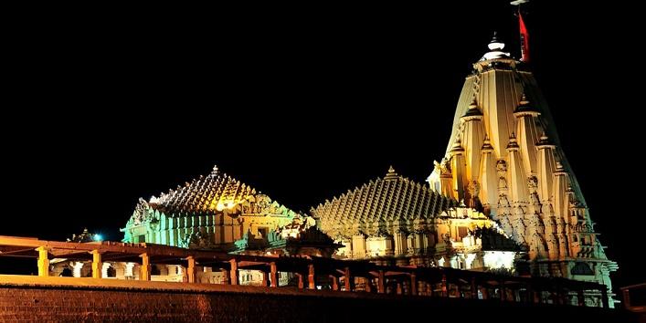 Somnath mandir night