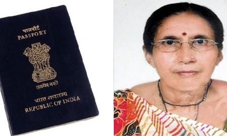 Jashodaben Modi passport