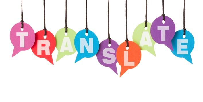 TRANSLATE on speech bubbles
