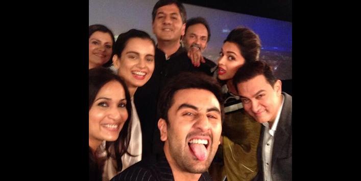 Aamir-Khan-Deepika-and-Ranbir-Kapoor,-Kangana-fun-filled-mood