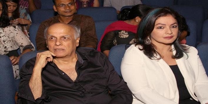 Filmmaker Mahesh Bhatt and actress Pooja Bhatt during a programme where theatrical adaptation of Mahesh Bhatt's film `Daddy` was staged in New Delhi on Aug 4, 2014. (Photo: Amlan Paliwal/IANS)