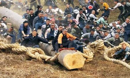 Japan most dangerous festival,Onbashira Festival ,Onbashira,Festival ,japan Festival ,