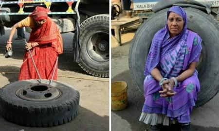 first-lady-truck-mechanicshantidevifirst-female-truck-mechanicindias-first-lady-truck-mechanic