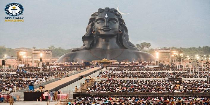 PM Modi unveils 112 feet long adiyogi shiiva idol in tamilnadu cover