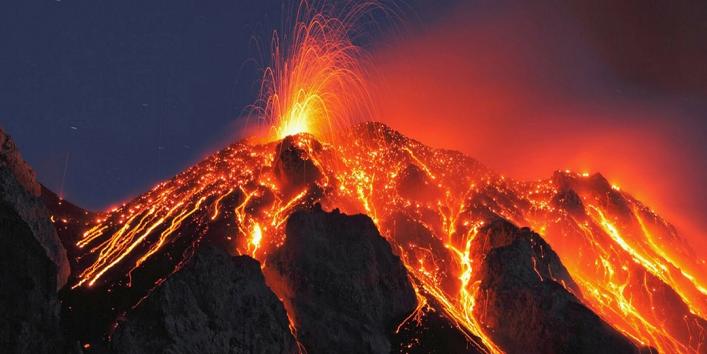 ज्वालामुखी फटने से हुई घटना की शुरुआत