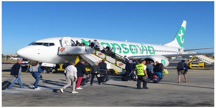ट्रांसेविया एयरलाइंस ने इमरजेंसी लैंडिंग की बात मानी
